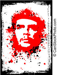 che guevara poster - illustration of the che guevara