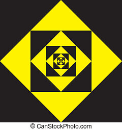 BLACK ON YELLOW DIAMOND BACKGROUND