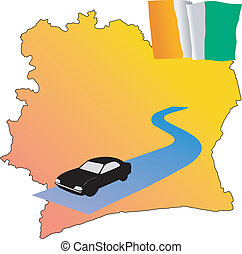 roads of Cote d\'Ivoire