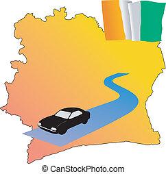 roads of Cote d\'Ivoire