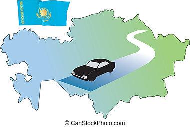 roads of Kazakhstan