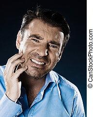 Man Portrait Despair Beg - caucasian man unshaven toothache...