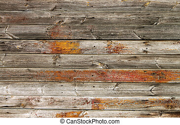 Old boards texture - Old, destroyed boards with paint...