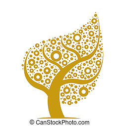 Art tree - Beautiful abstract art tree on white background