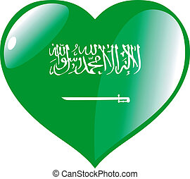 Saudi Arabia in heart