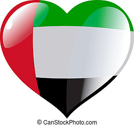 United Arab Emirates in heart