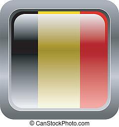 Belgium - metallic button in colors of Belgium