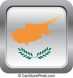 Cyprus - metallic button in colors of Cyprus