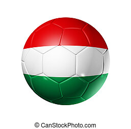 Soccer football ball with Hungary flag - 3D soccer ball with...