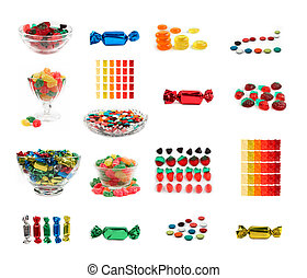 Candys, set of 17 isolated candys - Set of 17 isolated...