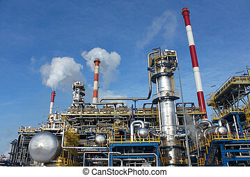 Heavy industry factory - Heavy industry installation: pipes,...