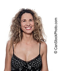 Beautiful Woman Portrait Toothy smile