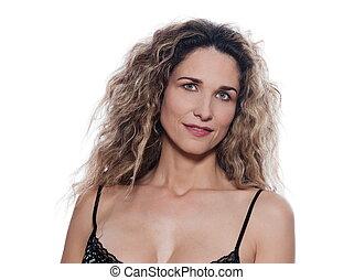 Beautiful Woman Portrait Smile seductive