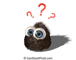 Wobby is wondering - Wobby, the cute hairy little creature,...