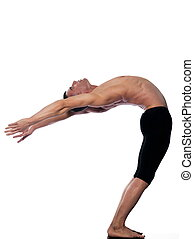 Man portrait gymnastic acrobatics balance yoga