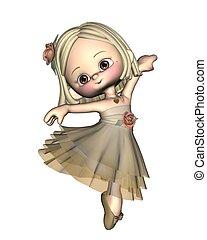 Toon Ballerina - 1 - Cute little toon ballerina, 3d...