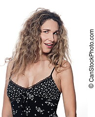 Beautiful Woman Portrait Smile Seduction