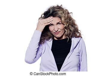Woman Portrait Migraine