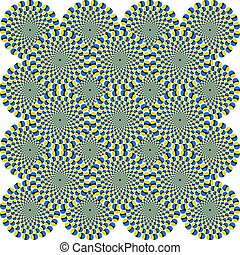 Optical Illusion Circles - That is a fascinating optical...