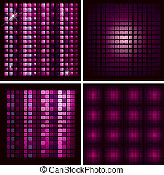 Set of Disco-ball patterns