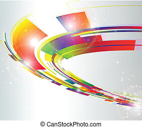 Abstract background, dynamic vector illustration