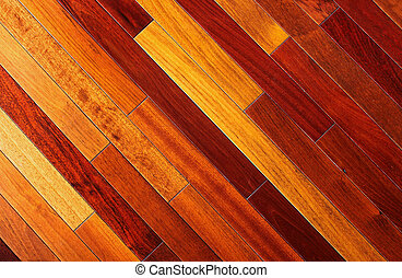 Wooden floor texture - Texture background of exotic wooden...