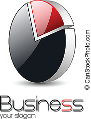 logo design - Logo design, 3d red glossy circle, vector...