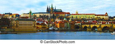 Prague, Czech Republic - HDR - Prague Castle, Charles Bridge...