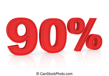 Discount 90% - Percent Numbers stating a Discount in red...