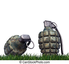 grenades isolated on white background
