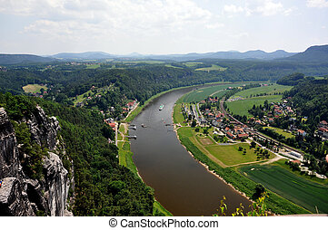 SAXON SWITZERLAND - Saxon Switzerland in Germany, in a sunny...