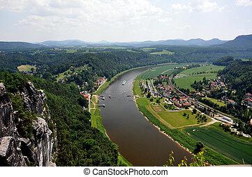 SAXON SWITZERLAND - Saxon Switzerland in Germany, in a sunny...