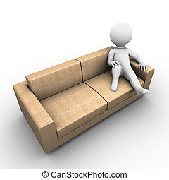 relaxing on a couch - Bobby Series - Bobby is relaxing on a...