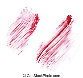 red smudge and smear - smudge and smear on white background...
