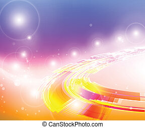 Abstract background cosmic ring, vector illustration