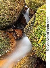 Small natural waterfall. - Small natural waterfall in the...