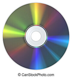 CD Compact Disc - A CD Compact Disc with the typical...