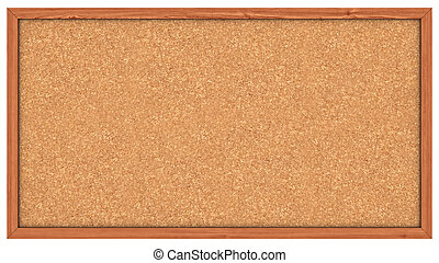 Cork board - A Corkboard Bulletin Board ready to get filled...