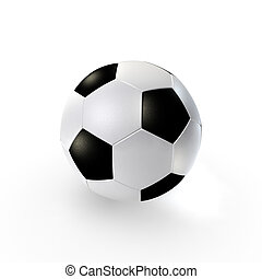 Soccerball - a traditional soccer ball on clean background