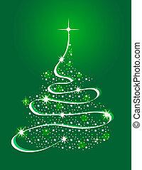 boże narodzenie, drzewo, gwiazdy