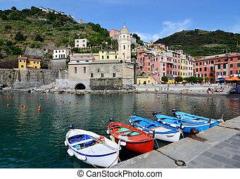 Vernazza village in the Cinque Terre, Italy