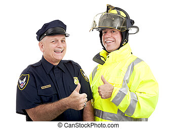 Blue Collar Heroes - Thumbsup - Firefighter and police...