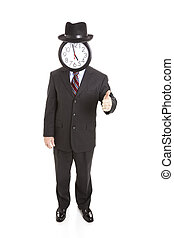 Faceless Businessman Full Body - Thumbsup - Anonymous...