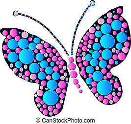 Butterfly - Multicolored butterfly designs as art and...