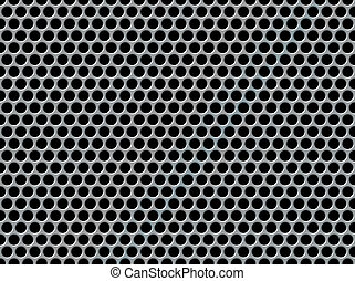 Perforated metal background - Abstract background with a...