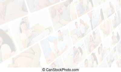 Montage of couple sharing moments together about pregnancy at home