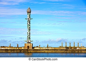 sculpture park in the dockyard of recife - sculpture park...