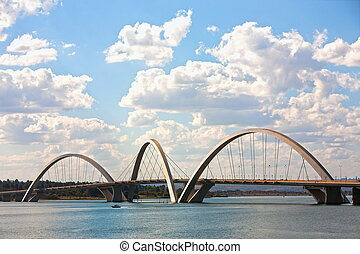 parati - juscelino kubitschek bridge of Brasilia city...