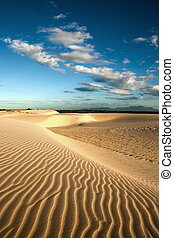 sand dune of cumbuco - ripples of sand dune of cumbuco near...