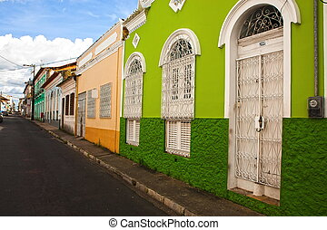 sao luis of maranhao - street of the historic center of the...